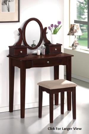 cherrywood mission style wooden vanity set