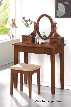 dark oak mission style wooden vanity set